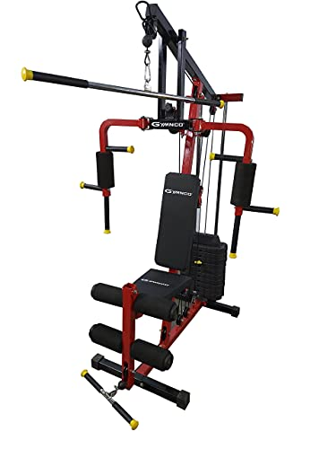 GYMNCO Black Multistation Home Gym Machine All in one Home Gym equipments Workout Machine Chest Biceps Shoulder Back Triceps Legs...