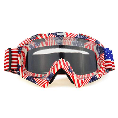Zfeng Gafas de deportes al aire libre Off-road downhill moto equitación equipo esquí anti-viento y arena salpicaduras gafas anti-impacto y polvo protección ocular-V