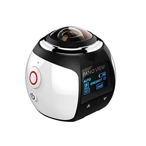 Vaorwne Fotocamera Un 360 Gradi VR Action Camera Panorama Videocamera Ad Altissima Definizione Impermeabile DV 4K HD 1080P