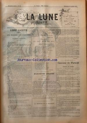 LUNE ROUSSE (LA) [No 33] du 22/07/1877 - UN HOMME LEGENDAIRE OU LE NOUVEL HIPPOLYTE PAR M. RUDE - EMILE DE GIRARDIN - LA PEINTURE ET LA POLITIQUE PAR GONTRAN - CANCANS DE PARTOUT - M. DE FOURTOU - COMMENT ON JUGE LES REPUBLICAINS - RENTREE DU COEUR LEGER PAR GILL