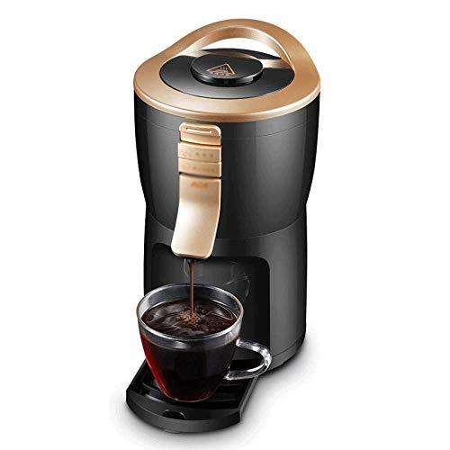 KFJDX Koffiezetapparaat - Automatische koffiezetapparaat startpagina draagbare kleine automatische mini-molen Office Network Red Coffee Machine, Black