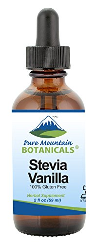 Vanilla Stevia Drops - Alcohol Free & Kosher - Flavored with Natural Vanilla - 2oz Glass Bottle
