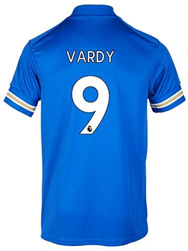 Men's Sportswear 2020/2021 Season Home Soccer T-Shirts Jersey/Short (Leicester City Vardy #9 (2XL)) Blue