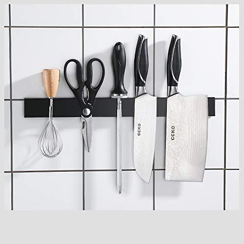 Guoz Barra Magnética para Cuchillos,Portacuchillas Magnético de Acero Inoxidable Soporte para Cuchillos de Cocina,Soporte Magnético de Cuchillos,Montaje en Pared con Banda Adhesiva