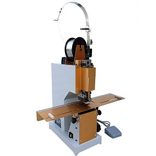 NEWTRY Professionelles elektrisches Heftgerät für Flach- und Sattelhefter, robust, A3-Größe, Pamphlet-Heftgerät, Papier-Faltmaschine, mit Fußpedal, 220 V (220 V Spannung)