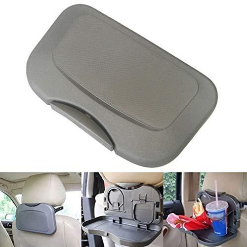 Inion Grijs uitklapbare klaptafel tafel voor autostoel – multifunctionele speeltafel voor kinderen eettafel voor dranken en maaltijden in de auto