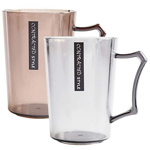 TOPBATHY 2 stks Badkamer Tandenborstel Houder Cup Plastic Transparant Tandpasta Mok Onbreekbare Drink Paar Cup Voor Water Koffie Thee Melk Sap