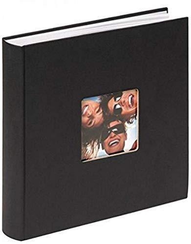 Walther Design - Álbum de Fotos Fun, con Recorte para Foto, Color Negro, 30 x 30 cm
