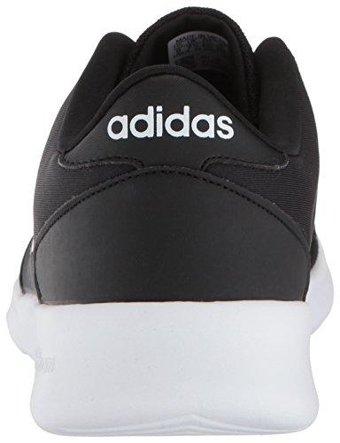 adidas Women's Cloudfoam QT Racer Sneaker, Black/White/Carbon, 9 M US 8