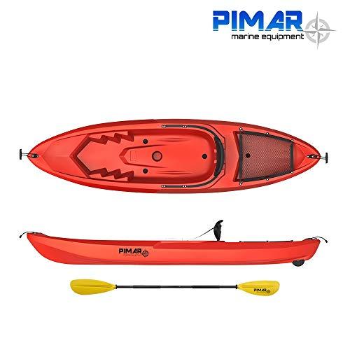 Nautica pimar Kayak - Canoa da 266 Cm + 1 Gavone + 1 Pagaia + 1 Seggiolino + 1 Ruotino (Colore Rosso) (Rosso)