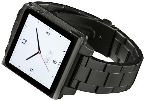 Hex hx1026-gnmt Vision Metall Armbanduhr Band für iPod Nano 6G–Gunmetal, One Size, Gunmetal