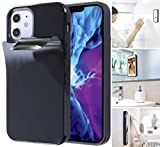 Anti Gravity Phone Case for iPhone 12 Pro Max with Dust Proof Film, Magic Nano Sticky Suction Stick to Gym Mirror Wall, Selfie Case for iPhone 12 Pro Max (2020) (12 Pro Max)