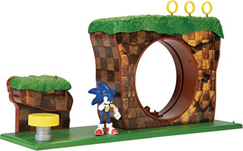Sonic The Hedgehog Green Hill Zone Playset with 2.5' Sonic Action Figure