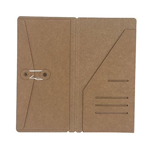Kraft Card Refill for Standard Size Travelers Notebook, Brown Journal Insert from Chris.W - Large 4.3 x 8.25 inches