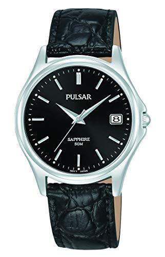 Seiko Reloj Analógico para Hombre de Cuarzo con Correa en Cuero PXHA73X1