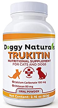 Pet Health Pharma Trukitin Chitosin Based Phosphate Binder for Cats & Dogs – All Natural Human Grade Ingredients for Renal Support Supplement with Calcium Carbonate Oral Powder  Made in U.S.A