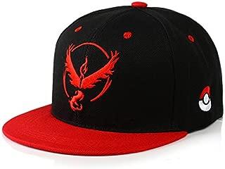 OYSTERBOY Pokemon Go Gym Team Valor/Mystic/Instinct Embroidery Baseball Hip pop Cap - Flat Brim