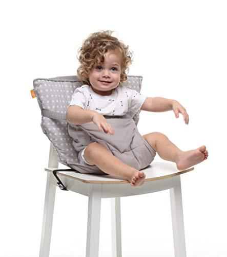 Baby-To-Love Chaise Nomade, Chaise Haute Portable Réversible et Compacte pour Bébé (White Stars)