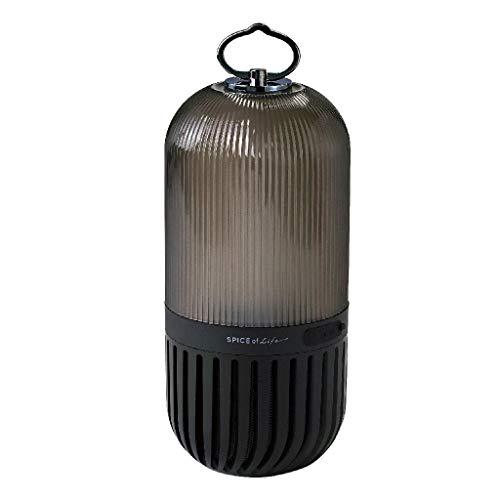 SPICE OF LIFE(スパイス) ゆらぎ カプセル スピーカー ブラック Bluetooth 防塵 防水 LED 充電式 CS2020BK