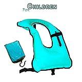 Rrtizan Children Snorkel Vest Boys & Girls Inflatable Snorkeling Jacket for Diving Swimming Safety