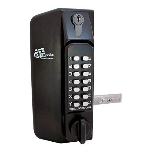 Borg Locks BL3130 KO Tastatur (Blk), beidseitig Gatelock c/w überschreiben
