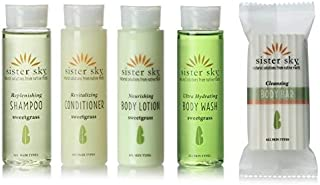 Sister Sky Sweet Grass Travel Set Shampoo, Conditioner, Lotion, Body Wash, Soap