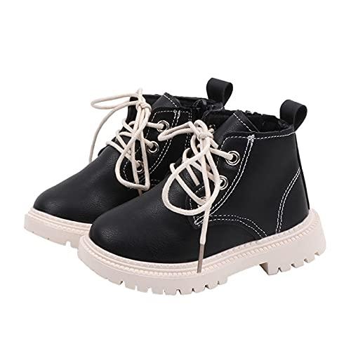 scarpe pelle bambino FURONGWANG6777BB Ragazze per Bambini Ragazzi Casual Martins Boots Scarpe in Pelle di Cuoio Bambini 1-5T (Color : B