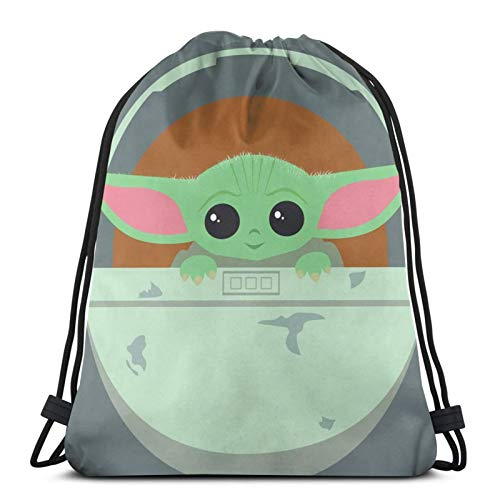 This Is The Way?Baby Yo-Da Lightweight Waterproof Drawstring Bags Gym Bag Unisex Yoga Bag Sport Backpack Bag