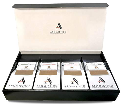 AROMISTICO Coffee | Variety SELECTIONs Classic Coffee Gift Set | Selection of Premium Italian Blends | Ground Coffee Hamper (1 Venezia, 1 Roma, 1 Firenze and 1 Napoli Blend - Ground Coffee)