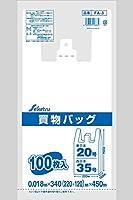 レジ袋 東日本20号/西日本35号 白半透明 0.018×340(220+120)×450 2000枚 FA-3