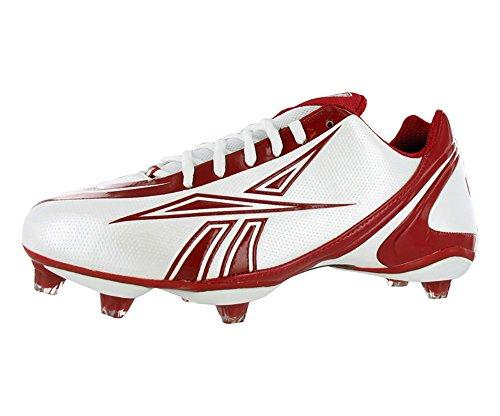 Reebok Herren NFL Burner Speed Low Fußballschuh, Weiß/Rot, 12 M