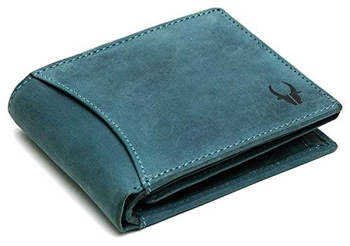 WILDHORN® Carter Leather Wallet for Men (Blue Hunter)