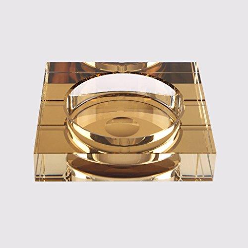 Aschenbecher Aschenbec Kristall vergoldete Mode kreative Persönlichkeit Geschenk Aschenbecherbehälter (Color : Gold, Size : 25cm)