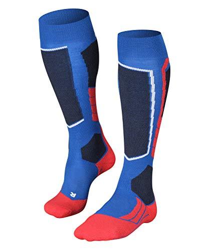 FALKE Herren Skisocken SK2, Skistrümpfe mit Merinowolle, atmungsaktive Kniestrümpfe zum Skifahren, hohe Wärmeisolation, mittelstarke Polsterung, 1er Pack, Blau (Olympic 6940), 44-45