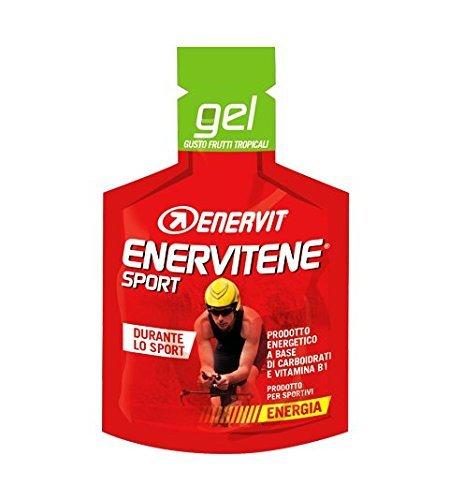 Enervit Enervitene Sport Gel Gusto Frutti Tropicali Confezione da 24 Gel da 25ml