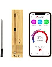 MEATER Plus | Termometro Bluetooth Fino a 50 Metri a Sonda Senza Fili Per Forno, Grigliate, Barbecue. App in Italiano Compatibile con iPhone, Android, iPad e Tablet