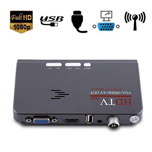 Verwijder digitale converter box met controller, digitale 1080P HD HDMI DVB-T2 TV box tuner ontvanger converter met VGA-aansluiting