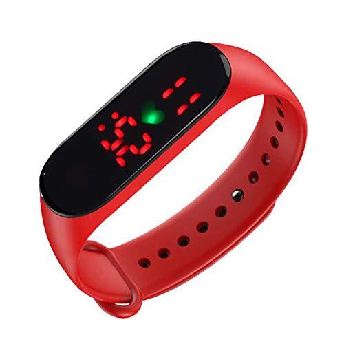 Buhui Reloj de medición de la temperatura, unisex, resistente al agua, monitor de temperatura corporal, pantalla de tiempo inteligente para una vida saludable.