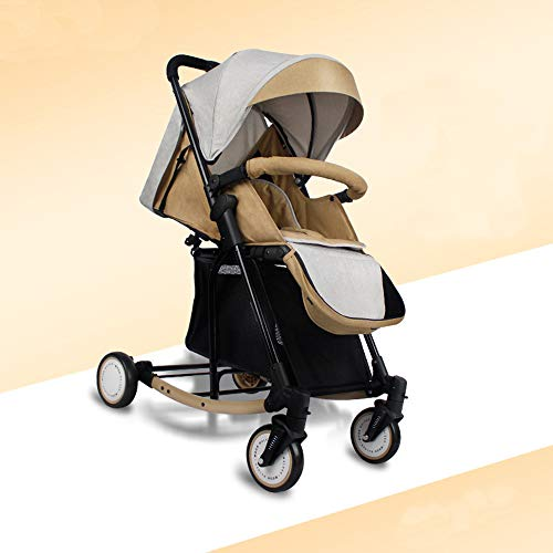 New 3 in 1 pram Five-Point Security Million Forward Wheel One-Click Folding Multifunction Strollers,...