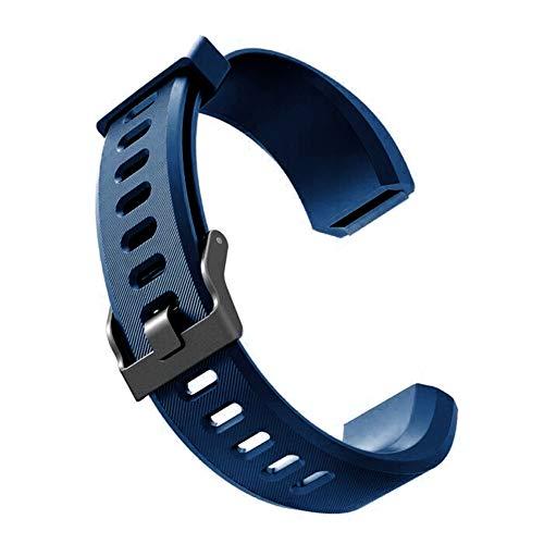 Sguan-wu Silikon Ersatz Smart Armband Band Handschlaufe für Veryfit ID115 ID115Plus - für Veryfit ID115Plus Blau