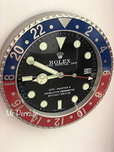 Rolex Replika Wanduhr Motiv Rolex GMT Pepsi rot blau