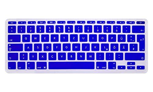 Super Super Super Lingua Tedesco Fonts Silicone EU UK Keyboard Cover Skin Sticker Protector Per Macbook Air 11  11.6  A1465 A1370-Blu Scuro