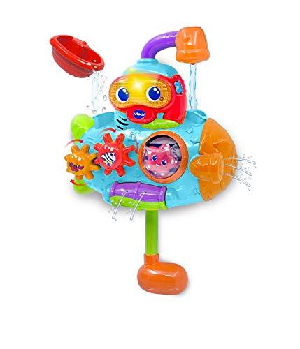 VTech - Capitán Periscopio, Juguete para el baño, Submarino Interactivo con numerosos Elementos para manipular, enseña Contenido Educativo del Mundo Marino, Multitud de Frases y Canciones (80-516422)