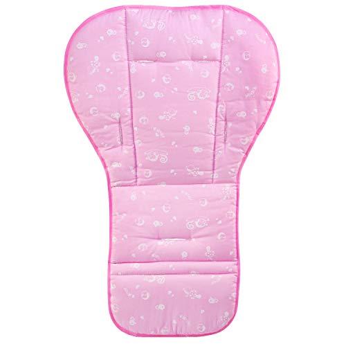 BelleStyle Copriseduta Universale Materassino per Passeggino, Reversibile bambino in puro cotone per passeggino seggiolino auto per passeggino inserto portatile per il cambio infant cuscino pad (Rosa)