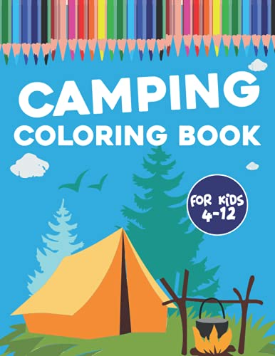 Camping Activity book for kids: A Kids Camping Book With Tracing letter and coloring pages   122 pages (Kidd's Coloring Books)