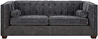 Amazon Com Gordon Tufted Sofa 32 Quot Hx91 Quot Wx38 Quot D Blue
