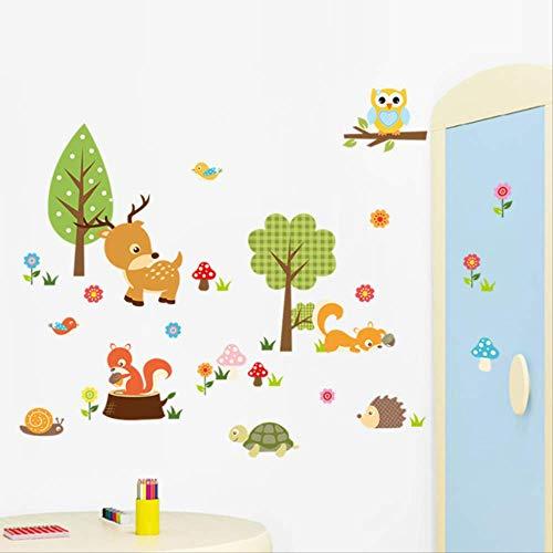 Stickers Muraux Aventure Décoratif Crazy Animaux De La Jungle Pour Chambre De La Pépinière Décor Wall Art Pvc