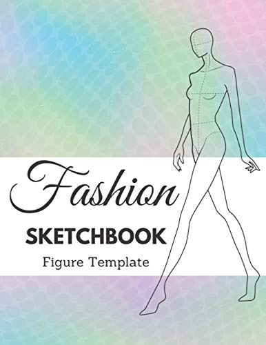 Fashion Sketchbook Figure template: +430 Large Female Figure Template for quickly & easily Sketching Your Fashion Design Styles with professional thin lines with up-close, front, side, back