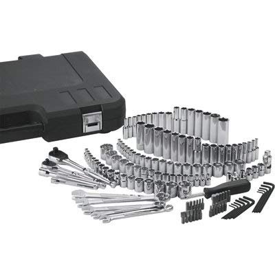Klutch Mechanic's Tool Set - 141-Pc. 1/4in. and 3/8in. Drive