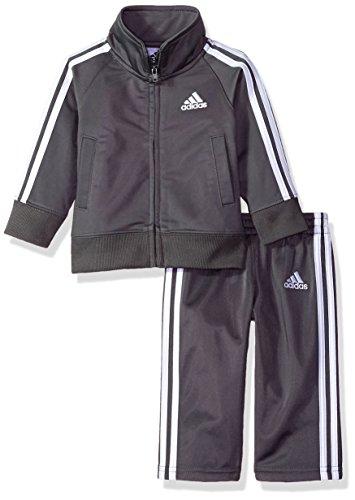 adidas Jungen - Trainingsanzug - grau - 5